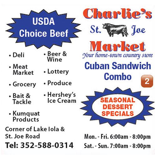 Charlie's St. Joe Market ad