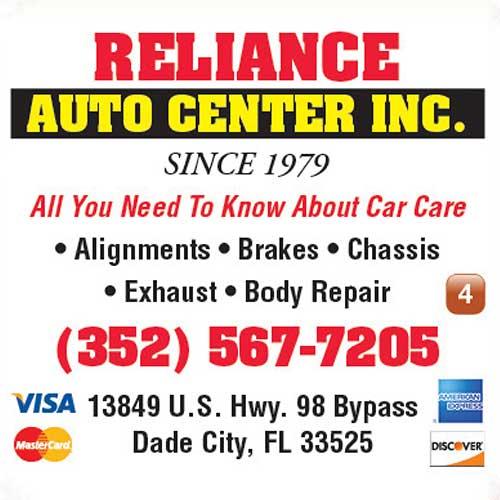 Reliance Auto Center ad