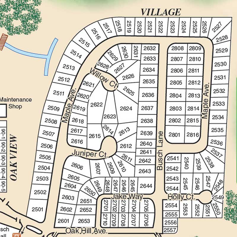 Village Section Map
