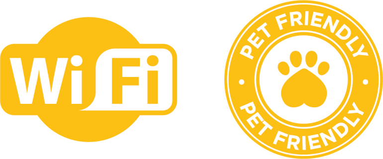 wifi and pet friendly icons