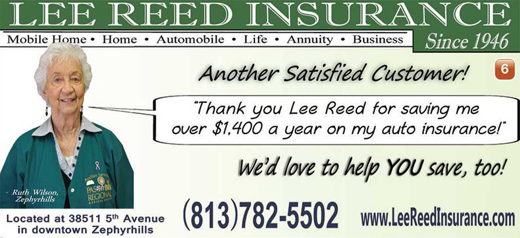 Lee Reed Insurance ad