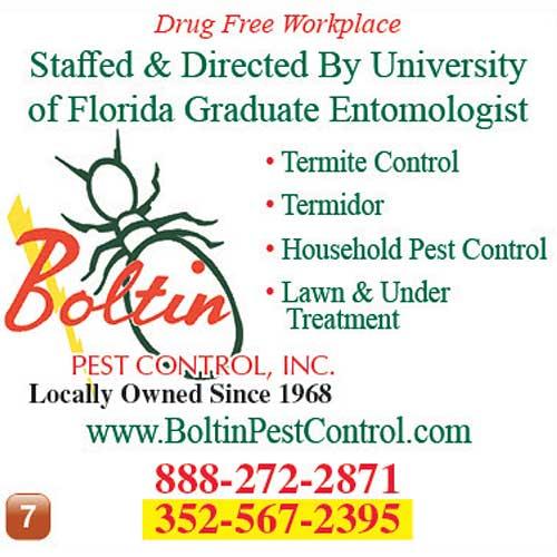 Bolten Pest Control ad