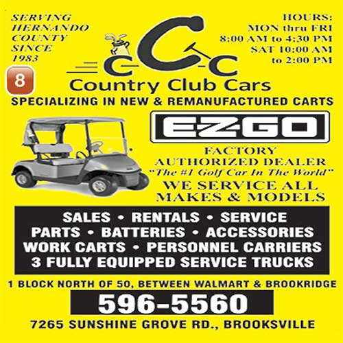 Country Club Cars ad