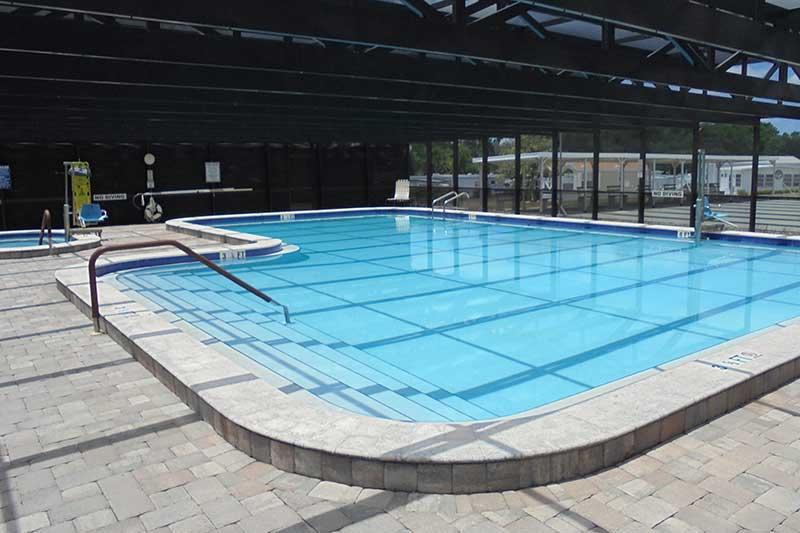 rv resort pool in dade city, fl