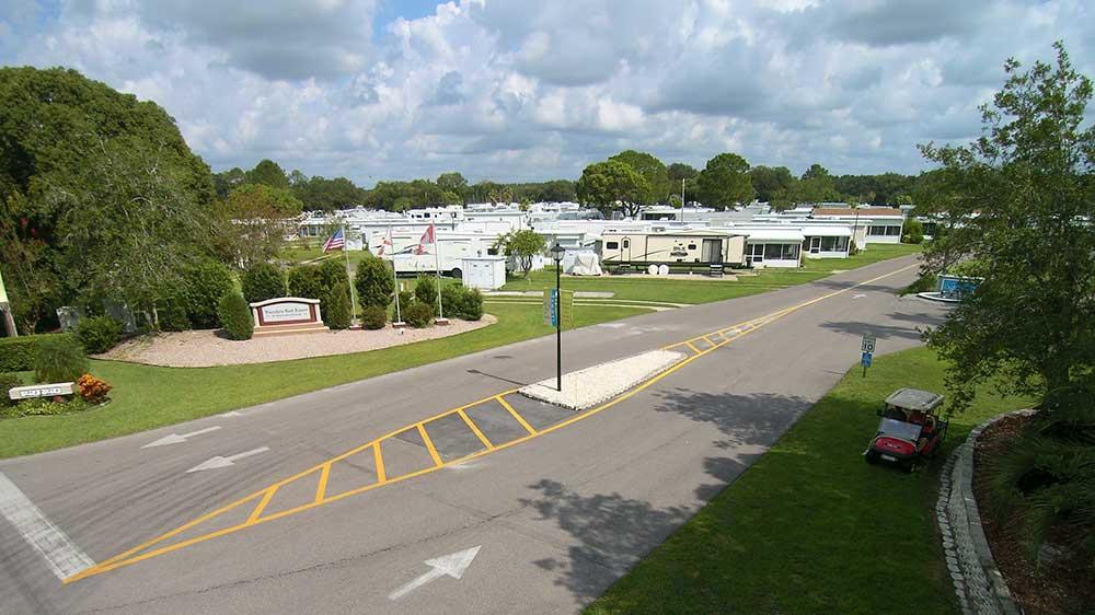Travelers Rest RV Resort & Golf Course entrance